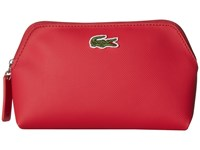 Lacoste L.12.12 Concept 3 Size Make Up Pouches Virtual Pink Combo D2 Cosmetic Case Red
