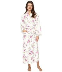 Carole Hochman Diamond Quilted Long Robe Blooming Garden Women's Robe White
