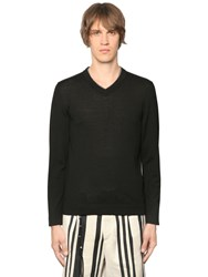 The Kooples Leather Trimmed Wool Knit Sweater