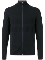 Paul Smith Ps By Zipped Cardigan Blue