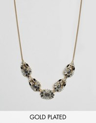 Johnny Loves Rosie Statement Necklace Silver Grey Black