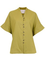Sissa Wide Sleeves Blouse Green