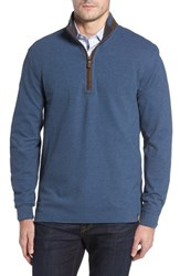 Thaddeus Men's Clifton Quarter Zip Pullover Denim