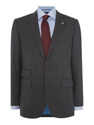 Chester Barrie Men's Flannel Jacket Charcoal