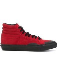 Gosha Rubchinskiy Hi Top Sneakers Red