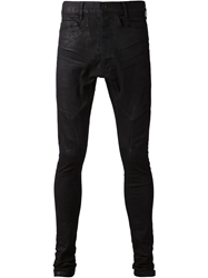 Julius Coated Skinny Jeans Black