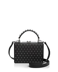 Nasty Gal Girl Boxx Trunk Studded Leather Crossbody Black
