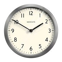 Newgate The Spy Clock Brushed Steel