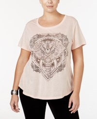 Styleandco. Style Co. Plus Size Elephant Graphic Top Only At Macy's Crushed Petal