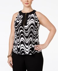 Inc International Concepts Plus Size Printed Halter Top Only At Macy's Night Dream
