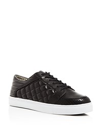 Matt Bernson Ambrose Quilted Sneakers Black White