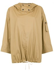 Sissa Hooded Oversized Blouse Brown
