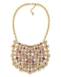 Carolee Drama Necklace 16 Gold Multi