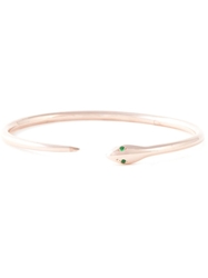 Ileana Makri 'Tiger Snake' Bangle Metallic