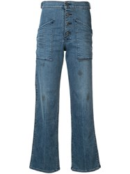 Rta 'Worker' High Waisted Flaredhigh Jeans Green
