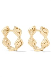 Sydney Evan Evil Eye 14 Karat Gold Earrings