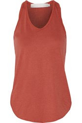 Kain Label Shawn Paneled Cotton And Modal Blend Tank Red