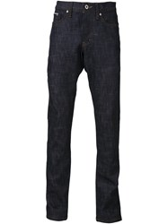 Naked And Famous Straight Leg Jeans Blue