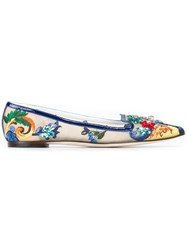 Dolce And Gabbana 'Vally' Ballerinas Multicolour