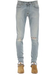 Represent Destroyer Cotton Blend Denim Jeans Blue