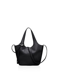 Elizabeth And James Finley Small Leather Tote Black Silver