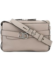 Tory Burch Front Buckle Crossbody Bag Nude Neutrals