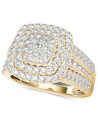 Macy's Diamond Cluster Ring 1 Ct. T.W. In 14K Gold Yellow Gold