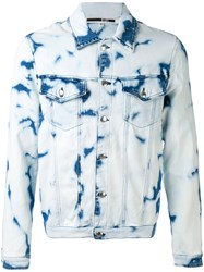 Mcq By Alexander Mcqueen Billy Denim Jacket Men Cotton Polyester Spandex Elastane 50 Blue