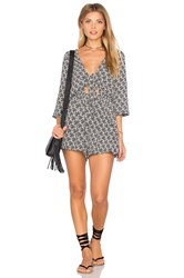 Wyldr Twin Shadow Playsuit Black