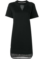 Moncler Mesh Panel Sweat Dress Black