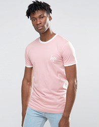 Hype Ringer T Shirt In Pink Pink