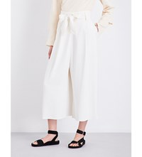 By Malene Birger Summer Wide Leg High Rise Woven Trousers Soft White 03Z