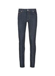 Isaia Slim Fit Raw Jeans Blue