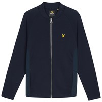 Lyle And Scott Seam Pocket Cotton Bomber Jacket Navy