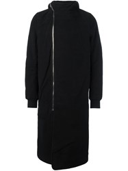 Rick Owens Drkshdw Zipped Hooded Coat Black