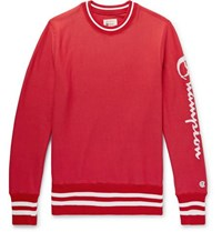Todd Snyder Champion Logo Print Loopback Cotton Jersey Sweatshirt Red