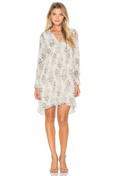 Ikks Paris Long Sleeve Floral Shift Dress White