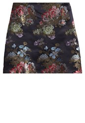 New Look Oriental Bloom Mini Skirt Black