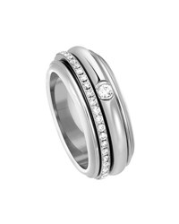 Piaget Possession Turning Band Ring With Diamonds In 18K White Gold