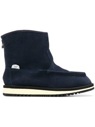 Suicoke Shearling Ankle Boots Blue