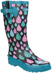 Cotswold Burghley Waterproof Wellington Boots Light Blue