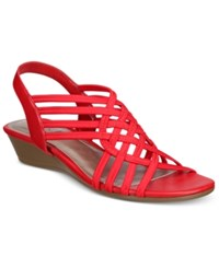 Impo Refresh Stretch Wedge Sandals Women's Shoes Red