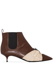 Rosie Assoulin Cutout 35Mm Ankle Boots Brown