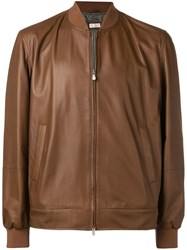 Brunello Cucinelli Zipped Up Jacket Brown