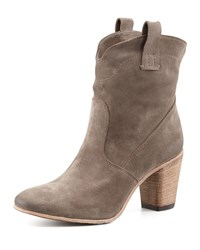 Chiara Slouchy Suede Ankle Boot Light Gray Alberto Fermani Light Grey