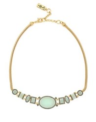 Jessica Simpson Geometric Frontal Necklace Gold