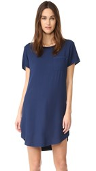 Splendid Short Sleeve Dress Navy