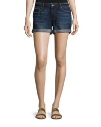 Paige Jimmy Jimmy Cuffed Denim Shorts Virginia Indigo