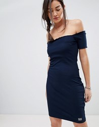 Superdry Bardot Bodycon Dress Blue