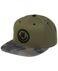Neff Men's Daily Smile 3D Embroidered Logo Snapback Hat Olivecamo